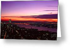 Panoramic View Of Empire State Greeting Card