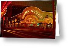 Panoramic View Of Golden Nugget Casino Greeting Card