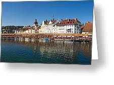 Panoramic View Of Historic Lucerne Greeting Card