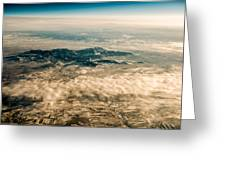 Panoramic View Of Landscape Of Mountain Range Greeting Card