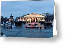 Panoramic View Of Moscow Manege Square And And Central Exhibition Hall - Featured 3 Greeting Card