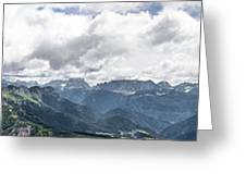Panoramic View Of San Pellegrino Pass Greeting Card