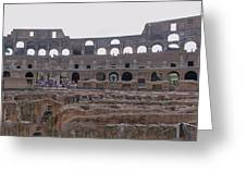 Panoramic View Of The Colosseum Greeting Card