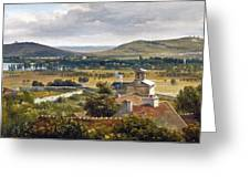 Panoramic View Of The Ile-de-france Greeting Card