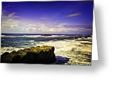 Panoramic View Of The Pacific Ocean Greeting Card