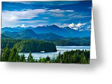 Panoramic View Of Tofino Vancouver Island Canada Greeting Card