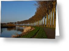 Panoramic View On Pottes - Belgium Greeting Card