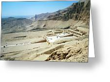Panoramic View Over Hatschepsut Temple Greeting Card