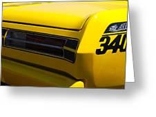 Panoramic Yellow Duster Greeting Card