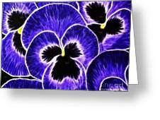 Pansy Expressive Brushstrokes Greeting Card