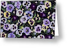Pansy Faces Greeting Card