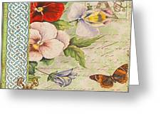 Pansy Garden-a Greeting Card