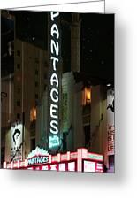 Pantages Neon Greeting Card