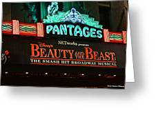Pantages Theather Marquie Greeting Card