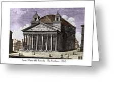 Pantheon Santa Maria Della Rotonda Greeting Card