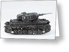 Panzer Miniature Greeting Card