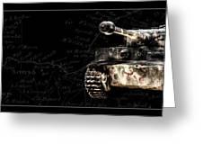 Panzer Tiger I Front Bk Bg Greeting Card