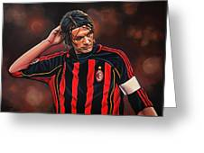 Paolo Maldini Greeting Card by Paul Meijering