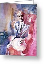 Papa Jo Jones Jazz Drummer Greeting Card by David Lloyd Glover