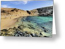Papagayo Beach On Lanzarote Greeting Card