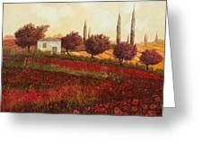 Papaveri In Toscana Greeting Card
