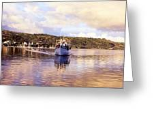 Papeete Harbour Dawn Greeting Card