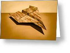 Paper Airplanes Of Wood 5 Greeting Card