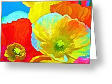 Paper Flowers Greeting Card