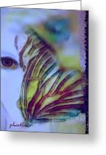 Papillon Bleu Greeting Card