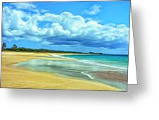 Papohaku Beach Molokai Greeting Card
