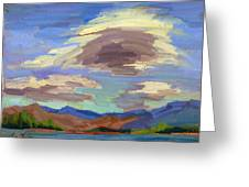 Papoose Lake And Clouds Greeting Card