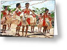 Papua New Guinea Cultural Show Greeting Card