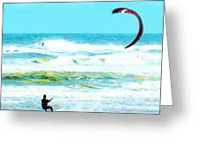 Para-surfer   Greeting Card by CHAZ Daugherty