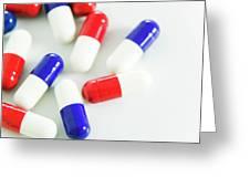 Paracetamol Drug Capsules Greeting Card