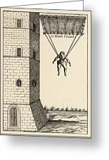 Parachute At Venice, Enabling  Descent Greeting Card