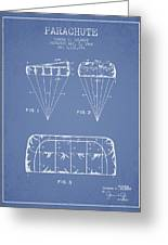 Parachute Design Patent From 1964 - Light Blue Greeting Card
