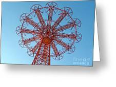 Parachute Jump-coney Island Greeting Card