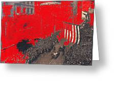 Parade Honoring General Eisenhower On June 29 1945 In New York City Greeting Card