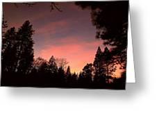 Paradise At Dusk Greeting Card
