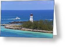 Paradise Island Lighthouse Greeting Card