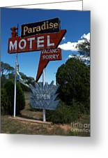 Paradise On Route 66 Greeting Card