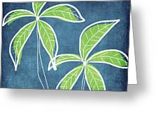 Paradise Palm Trees Greeting Card by Linda Woods