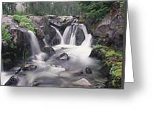 Paradise River Cascade Mt Rainier Greeting Card