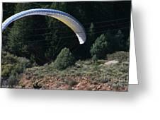 Paragliding Hazards Greeting Card
