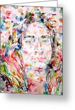 Paramahansa Yogananda Watercolor Portrait Greeting Card