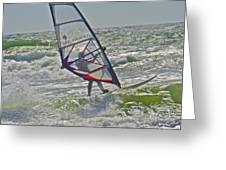 Parasurfing Greeting Card by SC Heffner