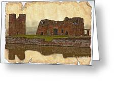 Parchment Texture Kirby Muxloe Castle Greeting Card