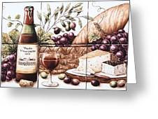 Pardo Vineyards Wine And Cheese Greeting Card