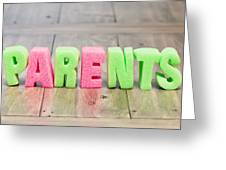 Parents Greeting Card by Tom Gowanlock