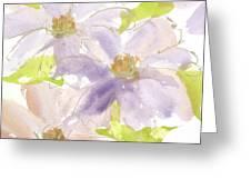 Parfait Clematis Greeting Card